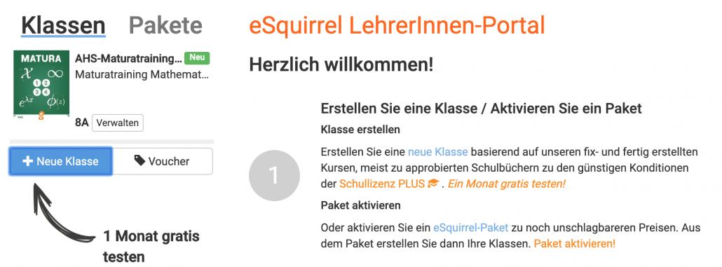 AHS-Maturatraining Mathematik mit eSquirrel im LehrerInnen-Portal