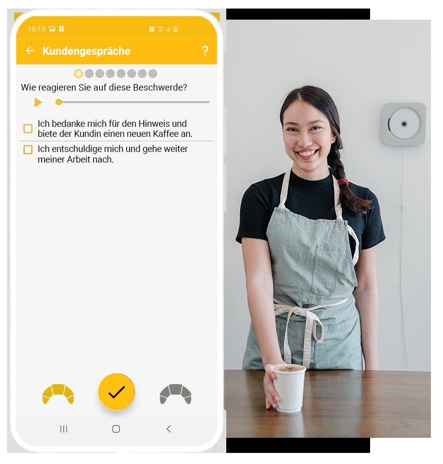 Kundengespräche Bäckerei Audiobeispiel